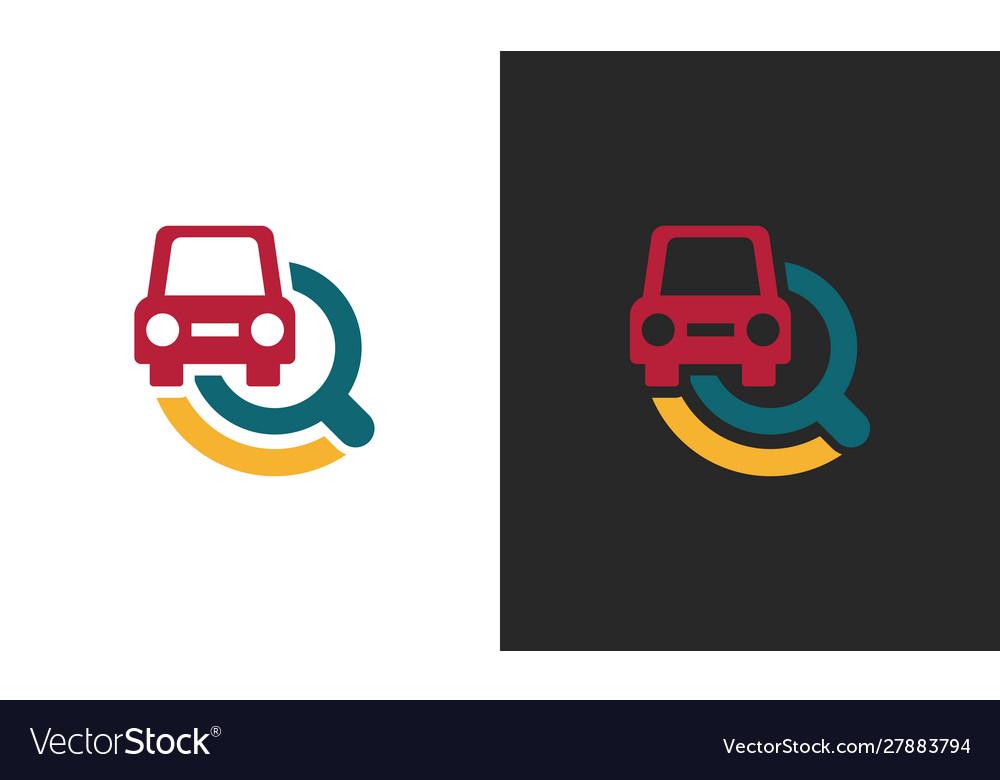Search car technology logo