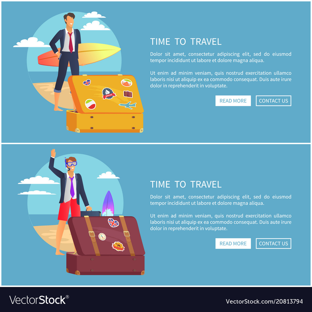 Time to travel set of web page