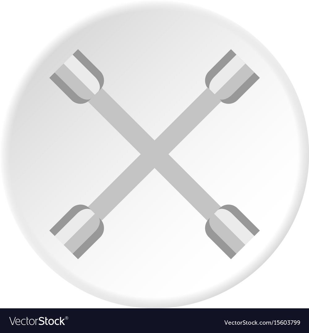 Automotive pistons icon circle vector image