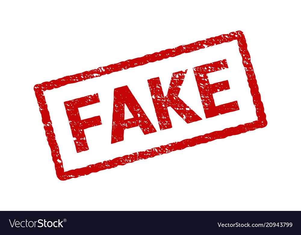 Fake stamp grunge rubber sign