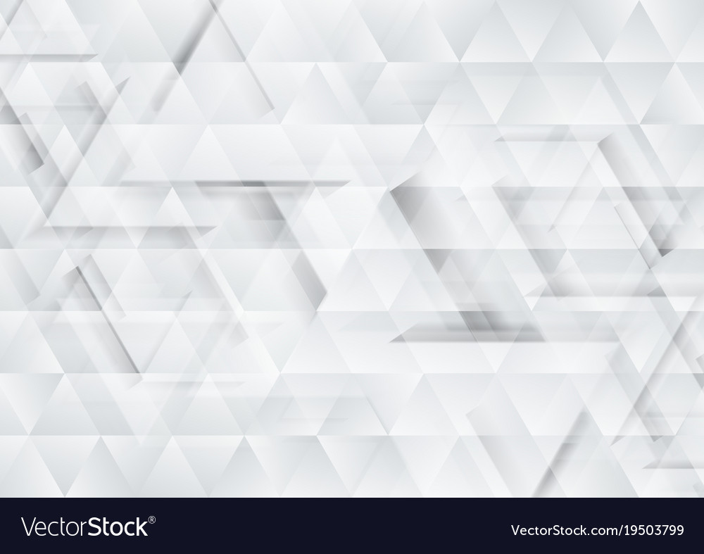 Grey And White Tech Triangles Texture Background Vector Image