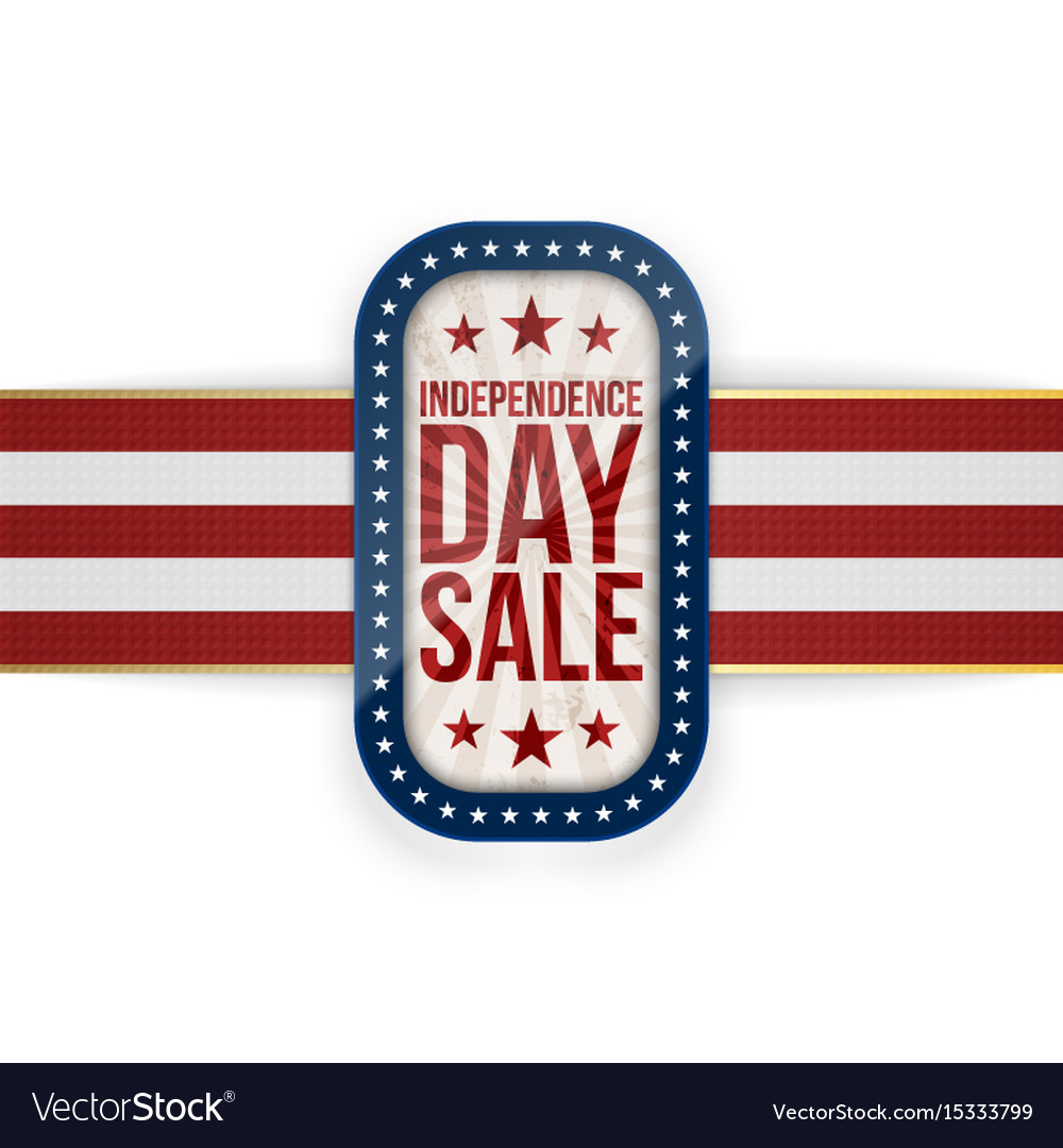 Independence day sale national greeting card vector image m4hsunfo