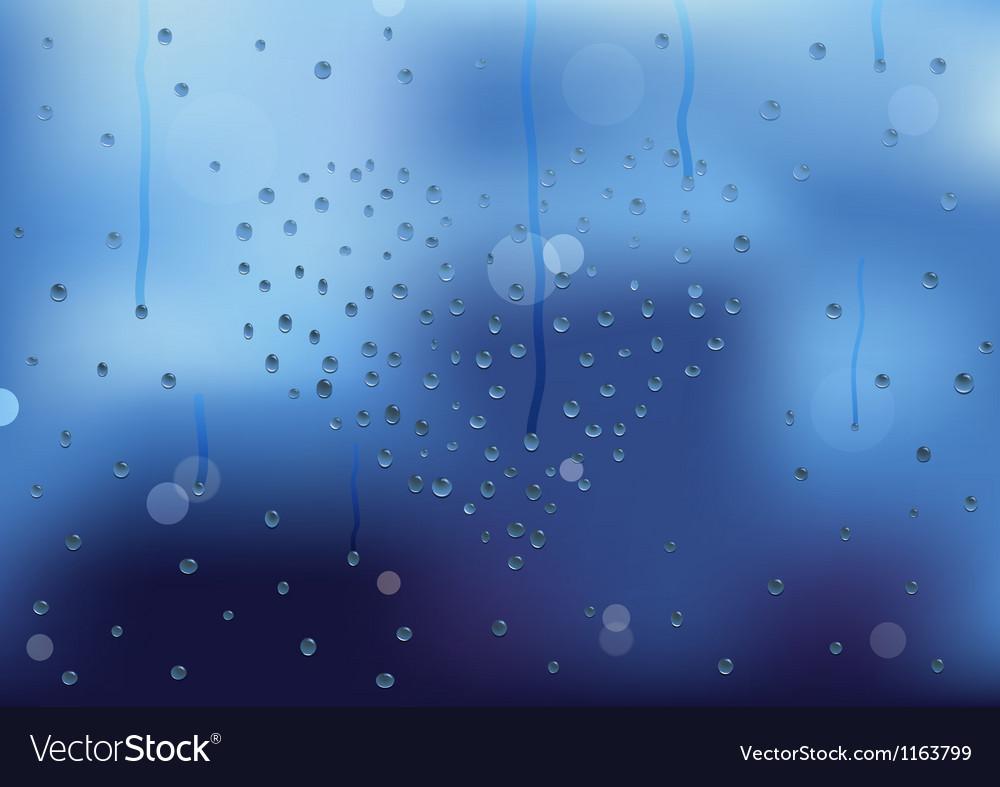 Rain drops in heart shape on a window pain