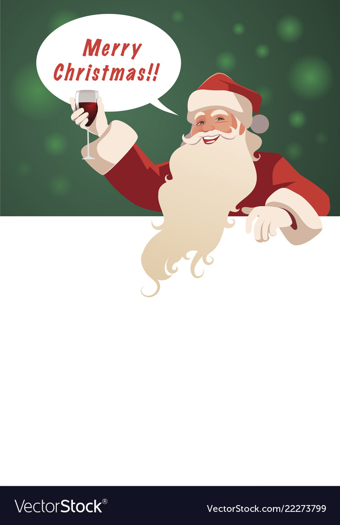 Santa claus holding a glass wine-01