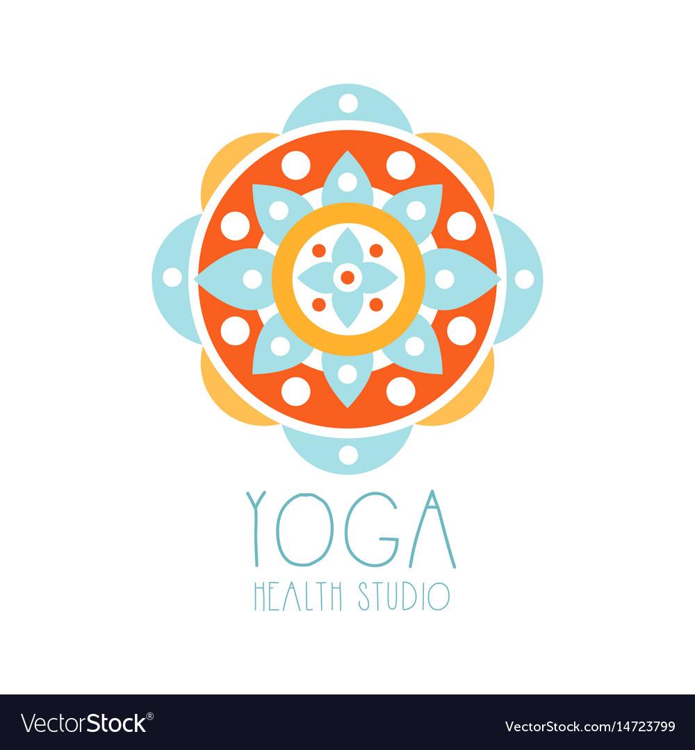 Yoga health studio logo symbol health and beauty