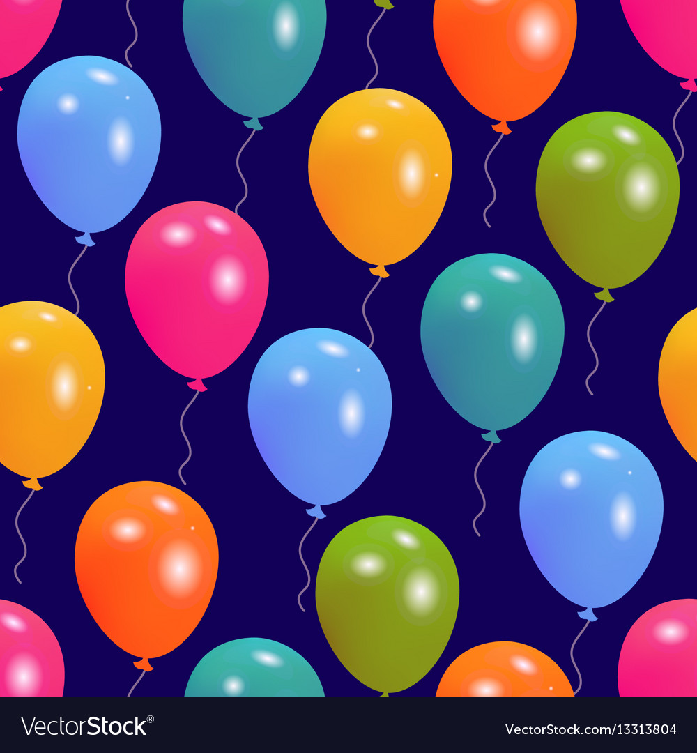 Balloons party seamless pattern
