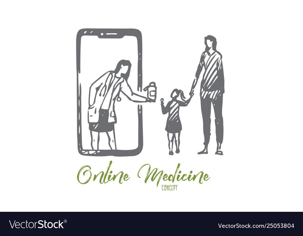 Child doctor online medicine mobile phone