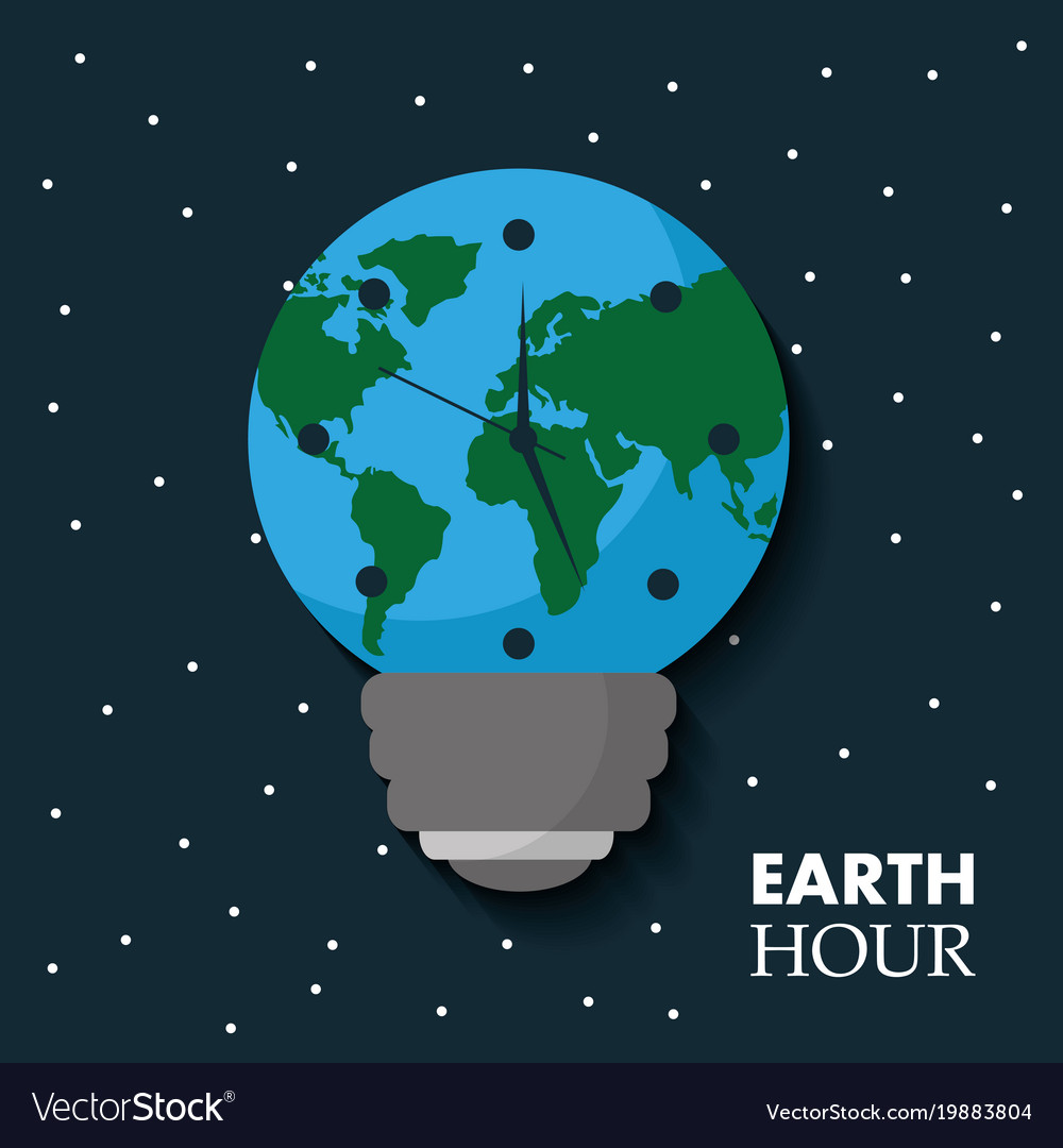 Earth hour globe map bulb clock celebration annual earth hour globe map bulb clock celebration annual vector image gumiabroncs Images