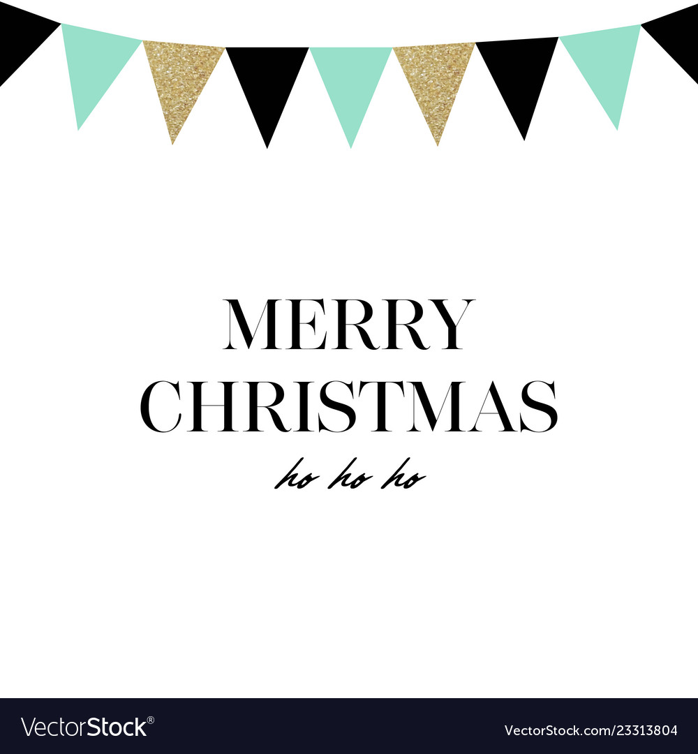 Merry christmas happy new year card hand