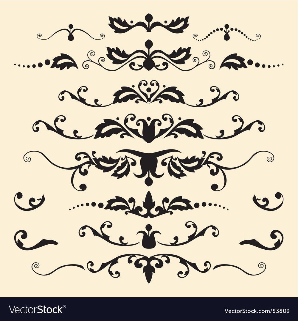 Antique ornaments vector image