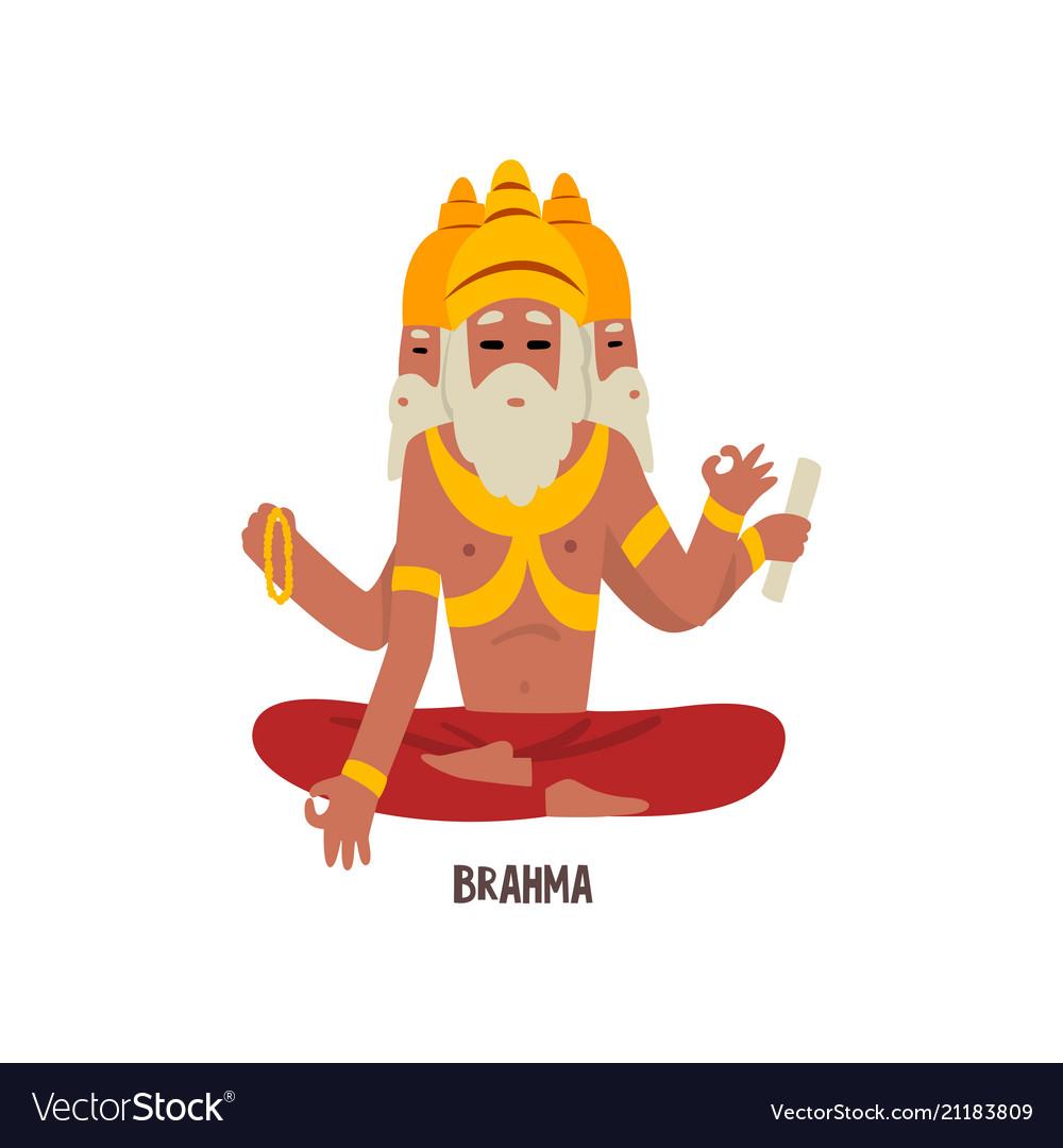 Brahma indian god cartoon character