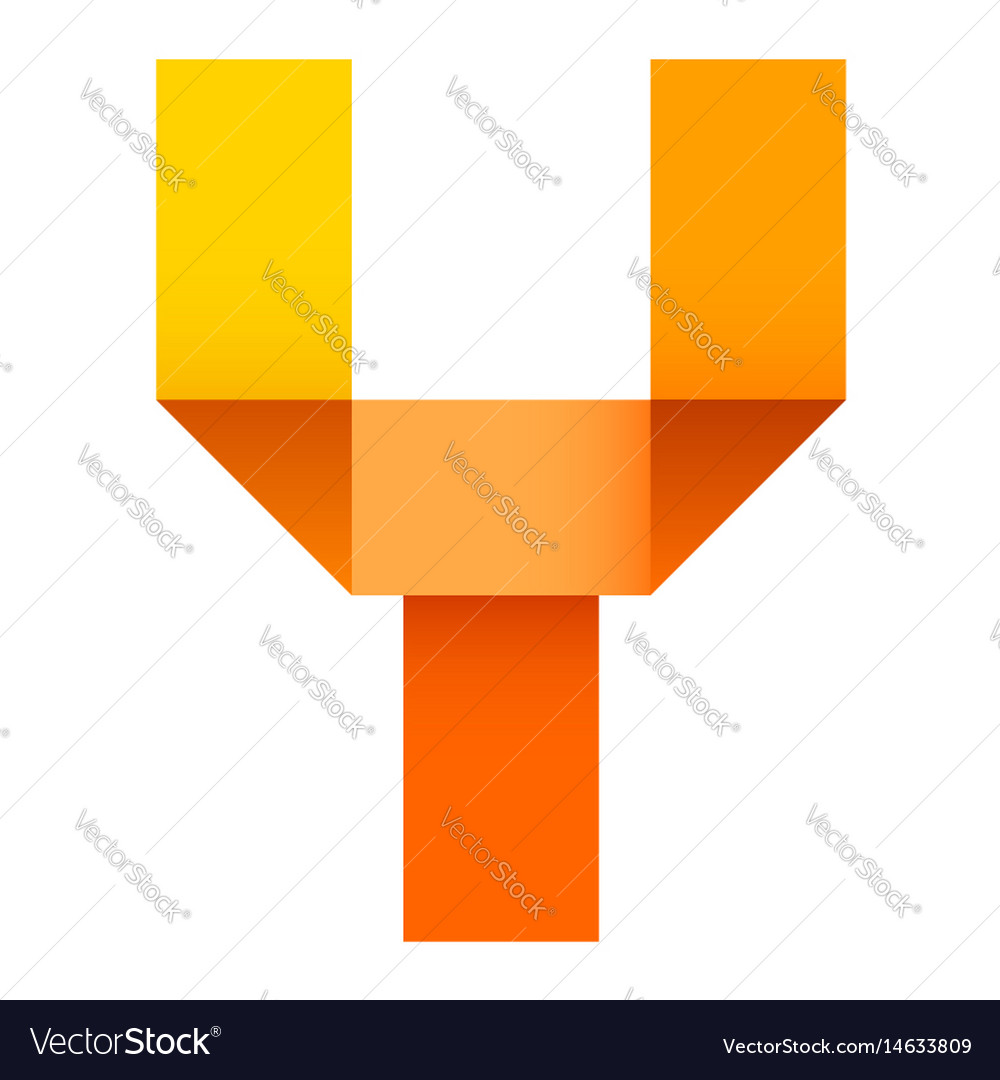 Bright letter folded of paper