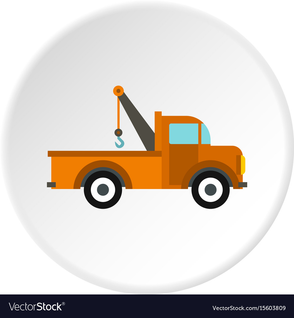 Car tow truck icon circle