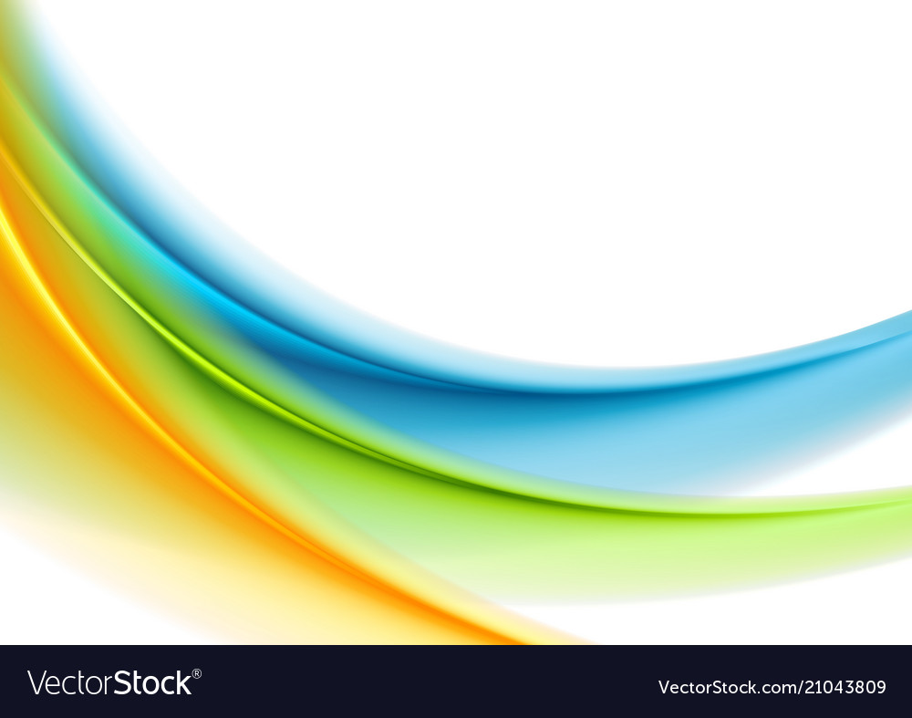 Colorful smooth blurred waves abstract background