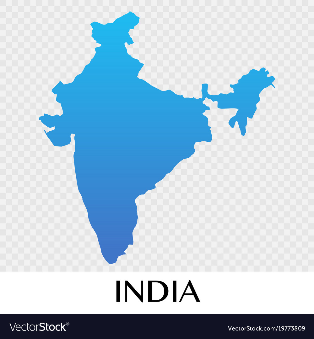 India Map Asia.India Map In Asia Continent Design Royalty Free Vector Image