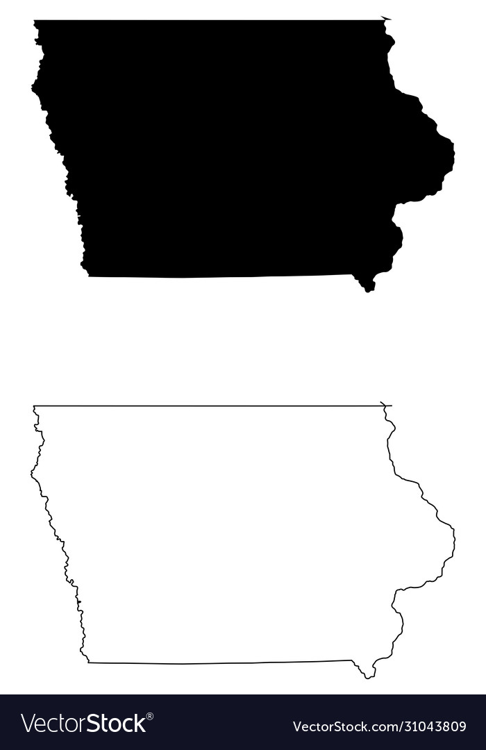 Iowa ia state map usa