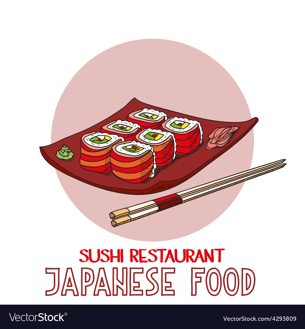 Japanese food cuisine roll sushi restaurant