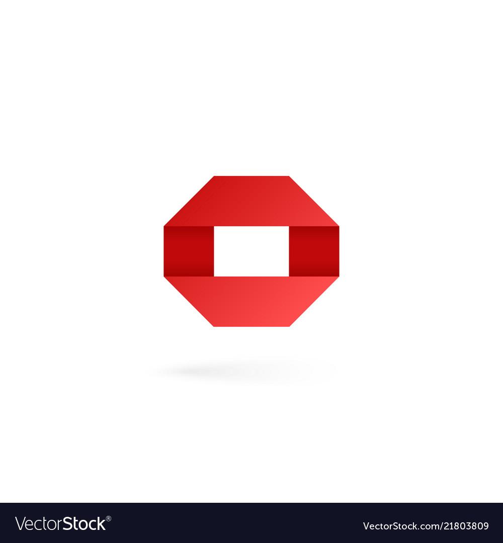 Letter o logo on white alphabet background