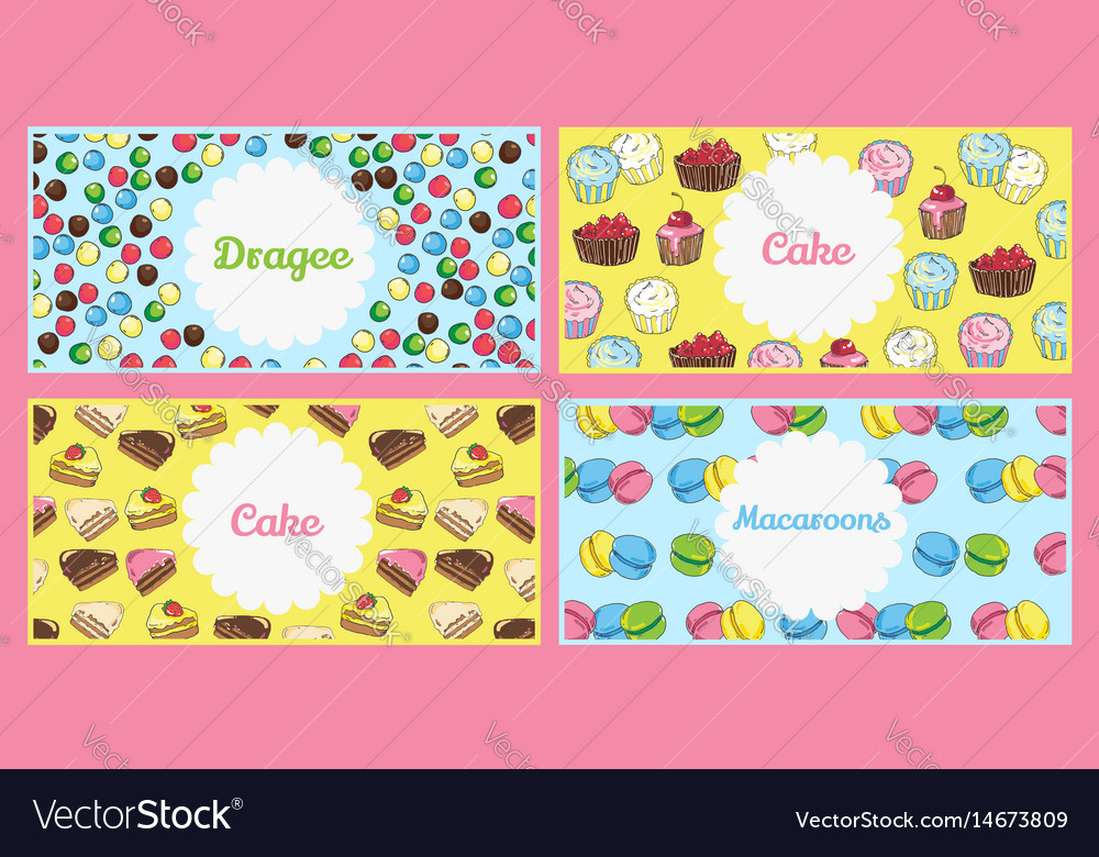 Set of flyer templates with text banners on the vector image