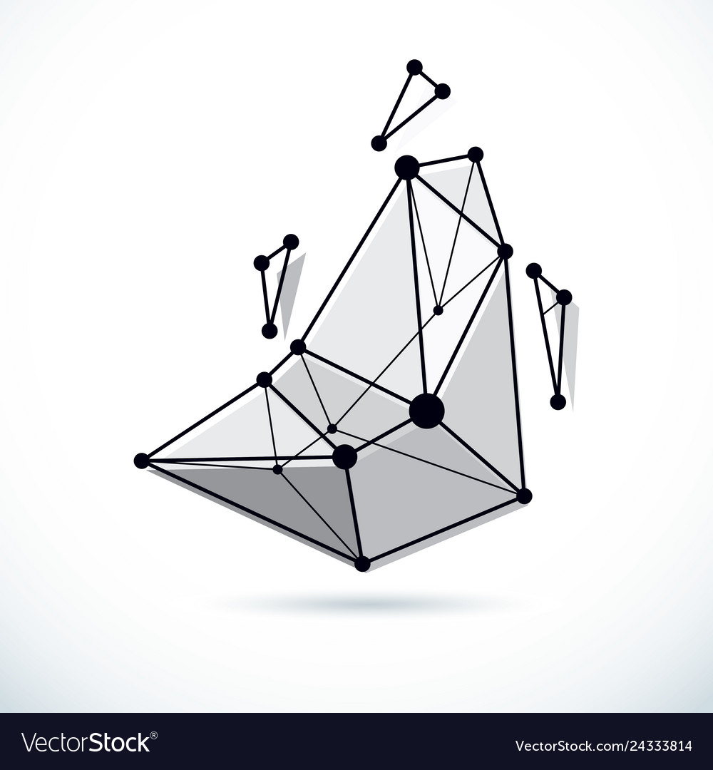 Abstract background isometric dimensional shape