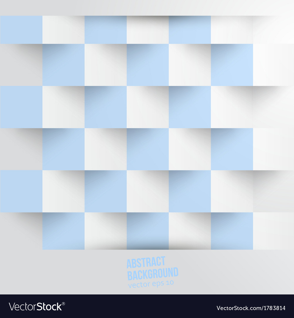 Abstract background Square white blue