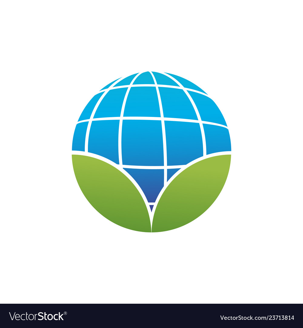 Circular shape of blue planet earth or globe with
