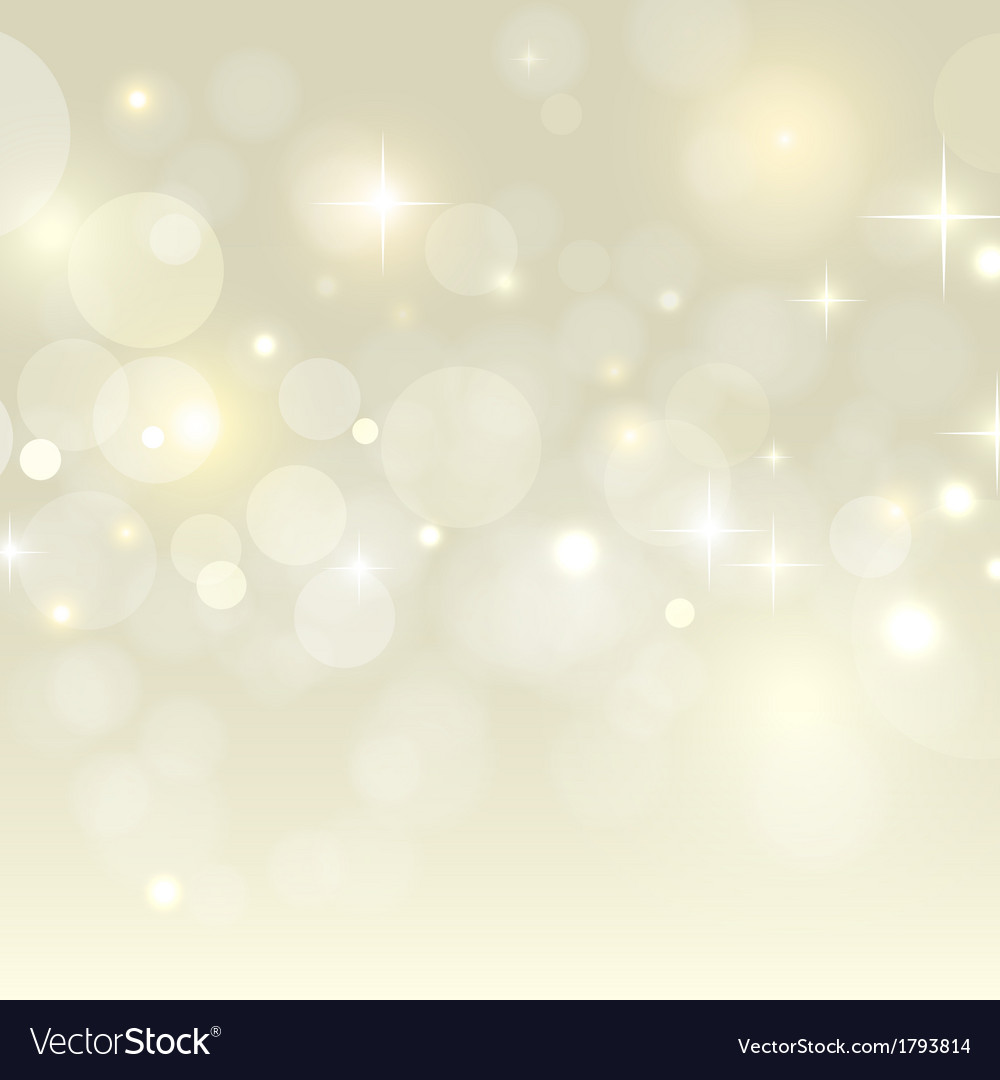 Holiday background with golden bokeh vector image