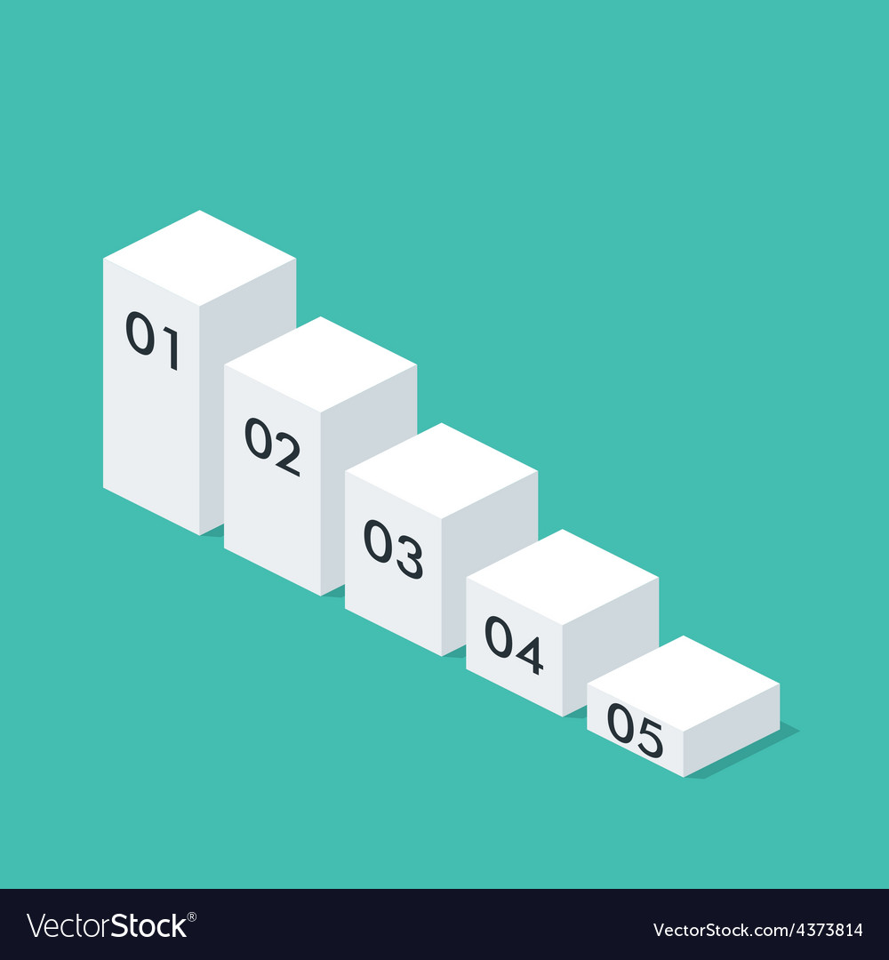 Isometric chart template layout for business