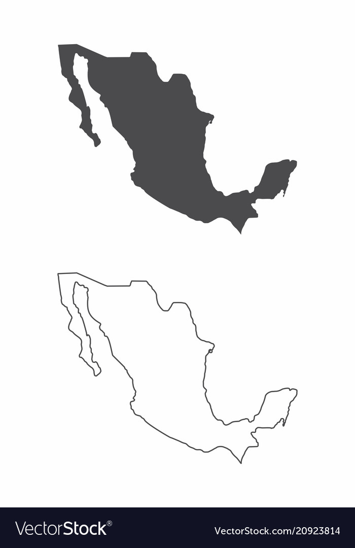 Maps of mexico vector image