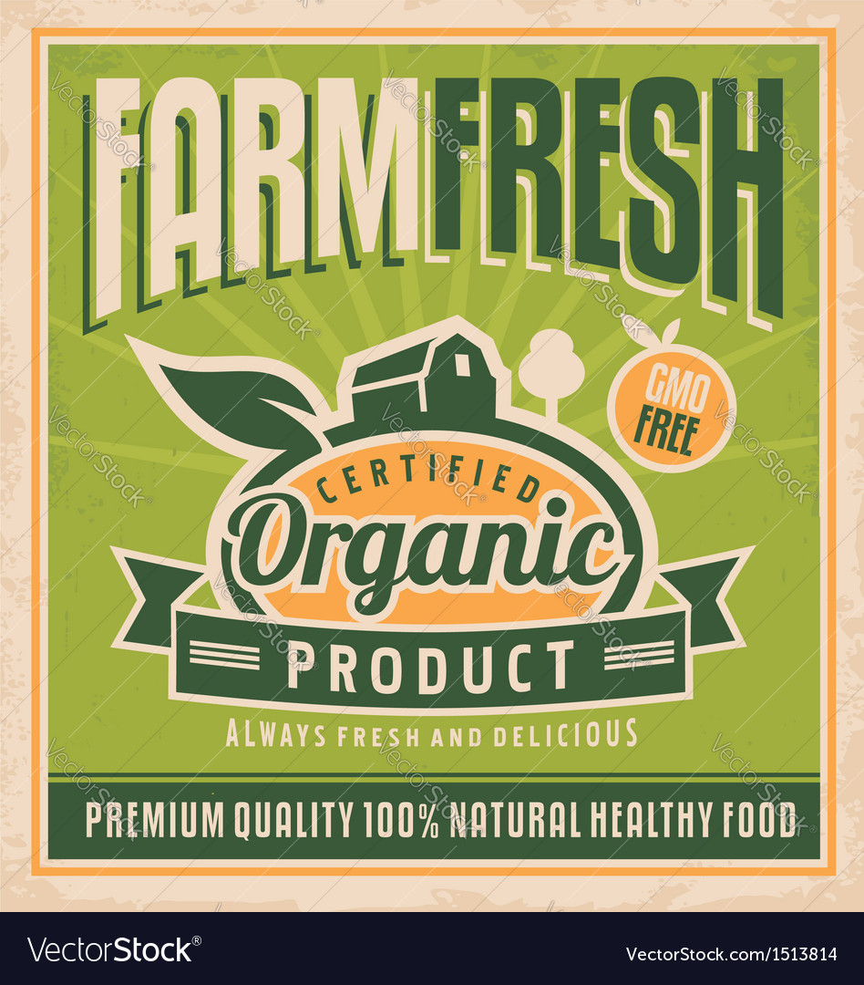 Retro farm fresh food concept
