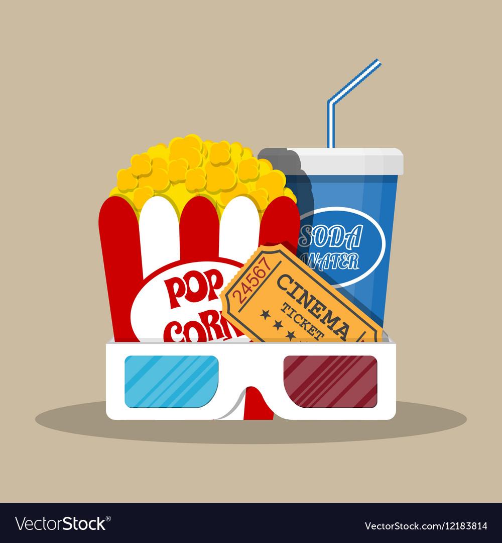 Retro movie set cinema items