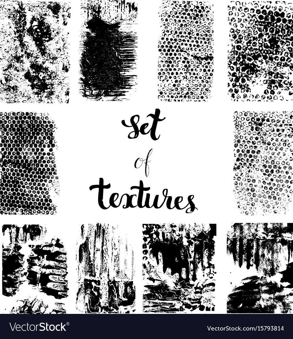 Set of texture vector image