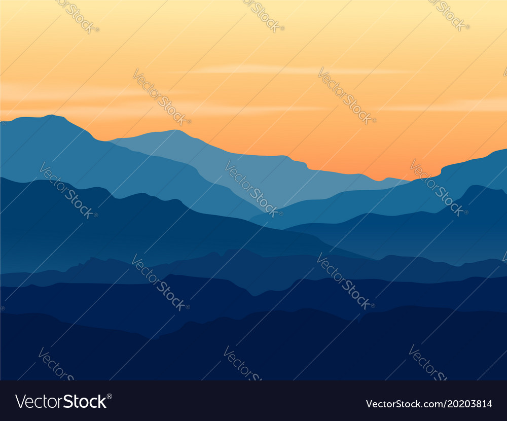 Twilight In Blue Mountains