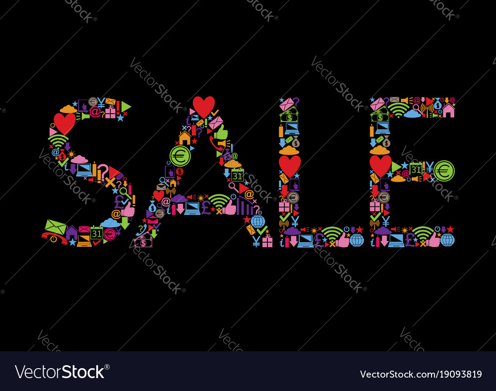 Colored sale text