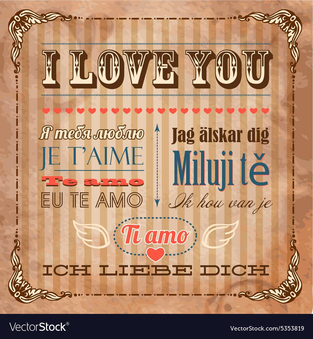 Languages love the seven Seven Love