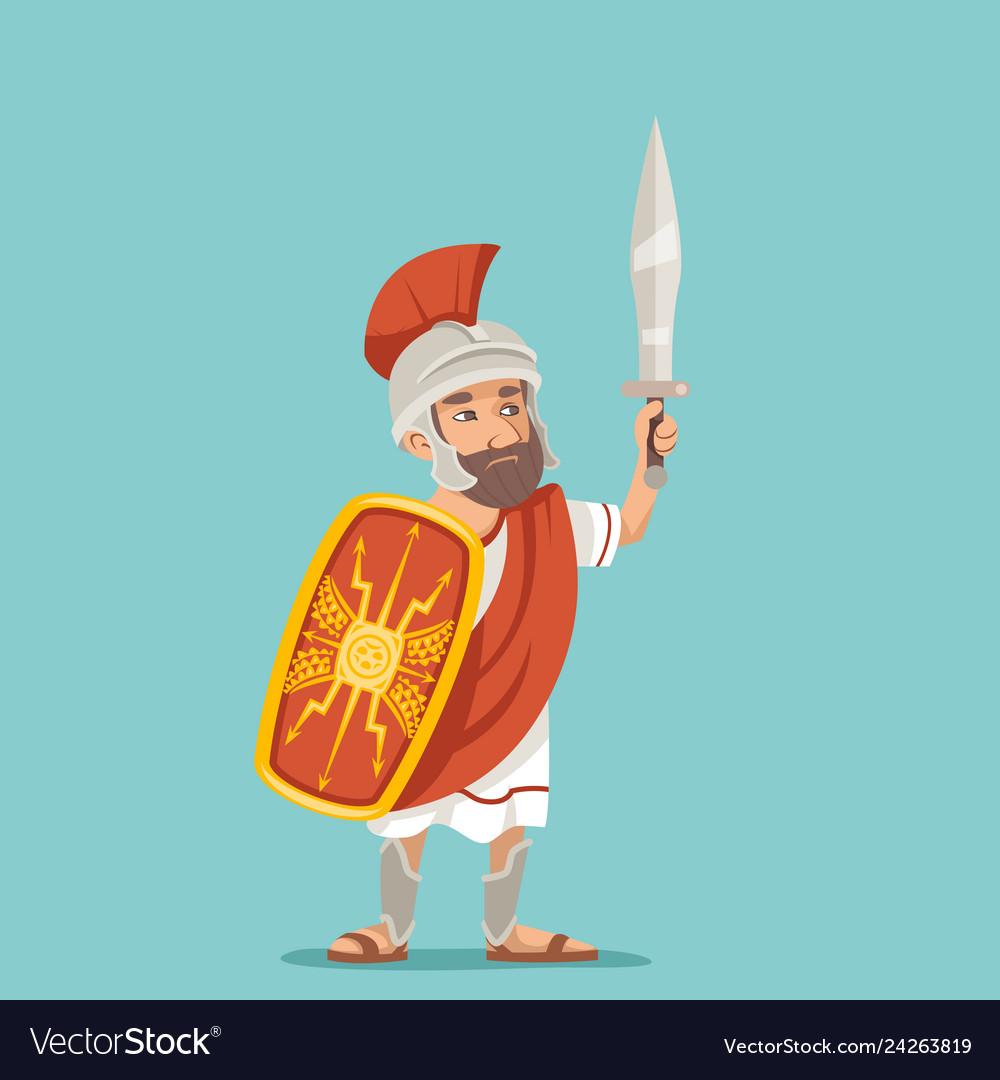 Legionnaire sword shield warrior soldier greek