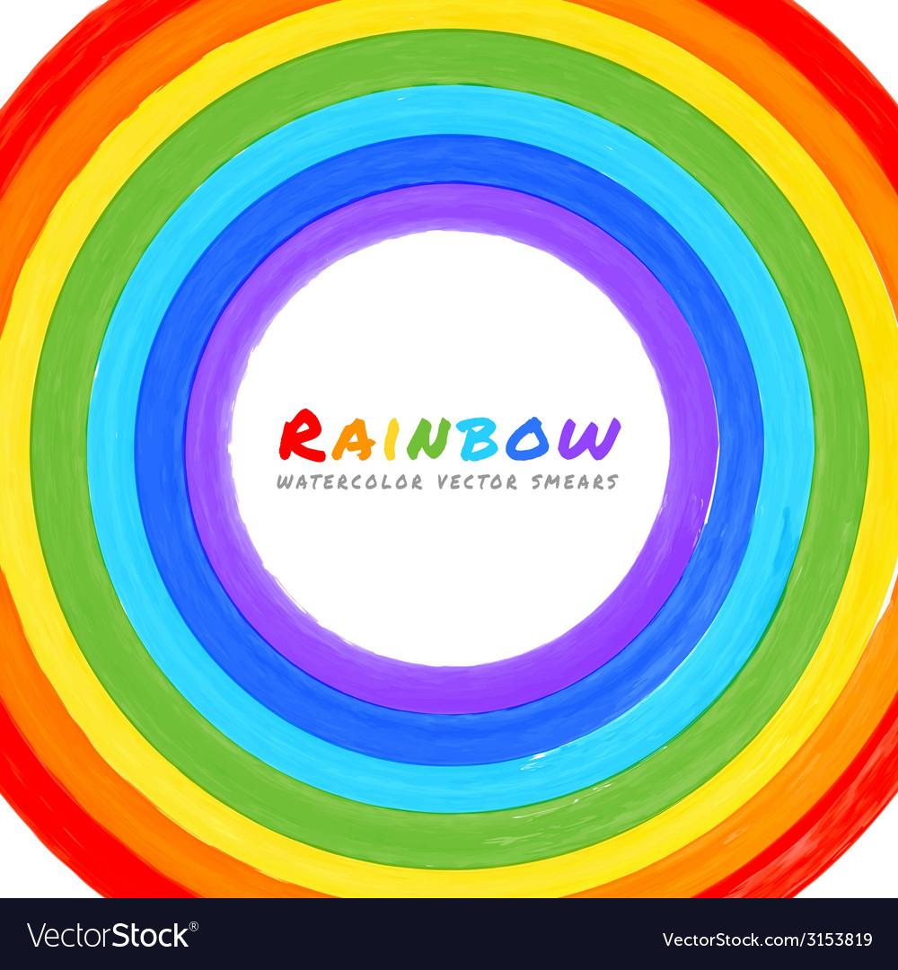 Rainbow Watercolor circle