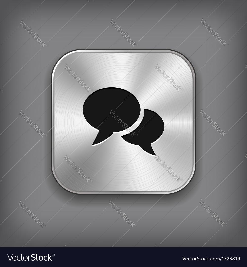Speech icon - metal app button