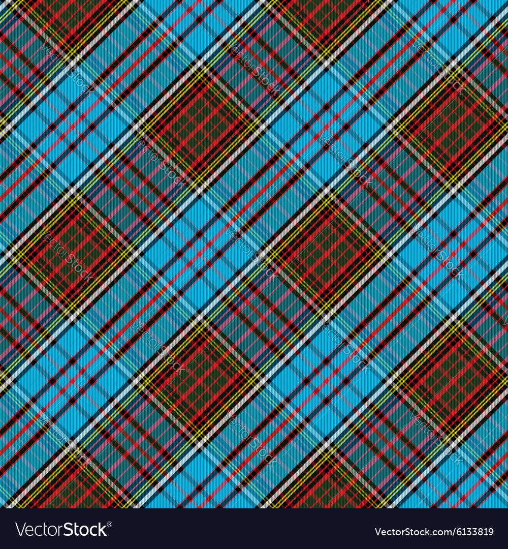 Tartan Clan Anderson diagonal seamless pattern
