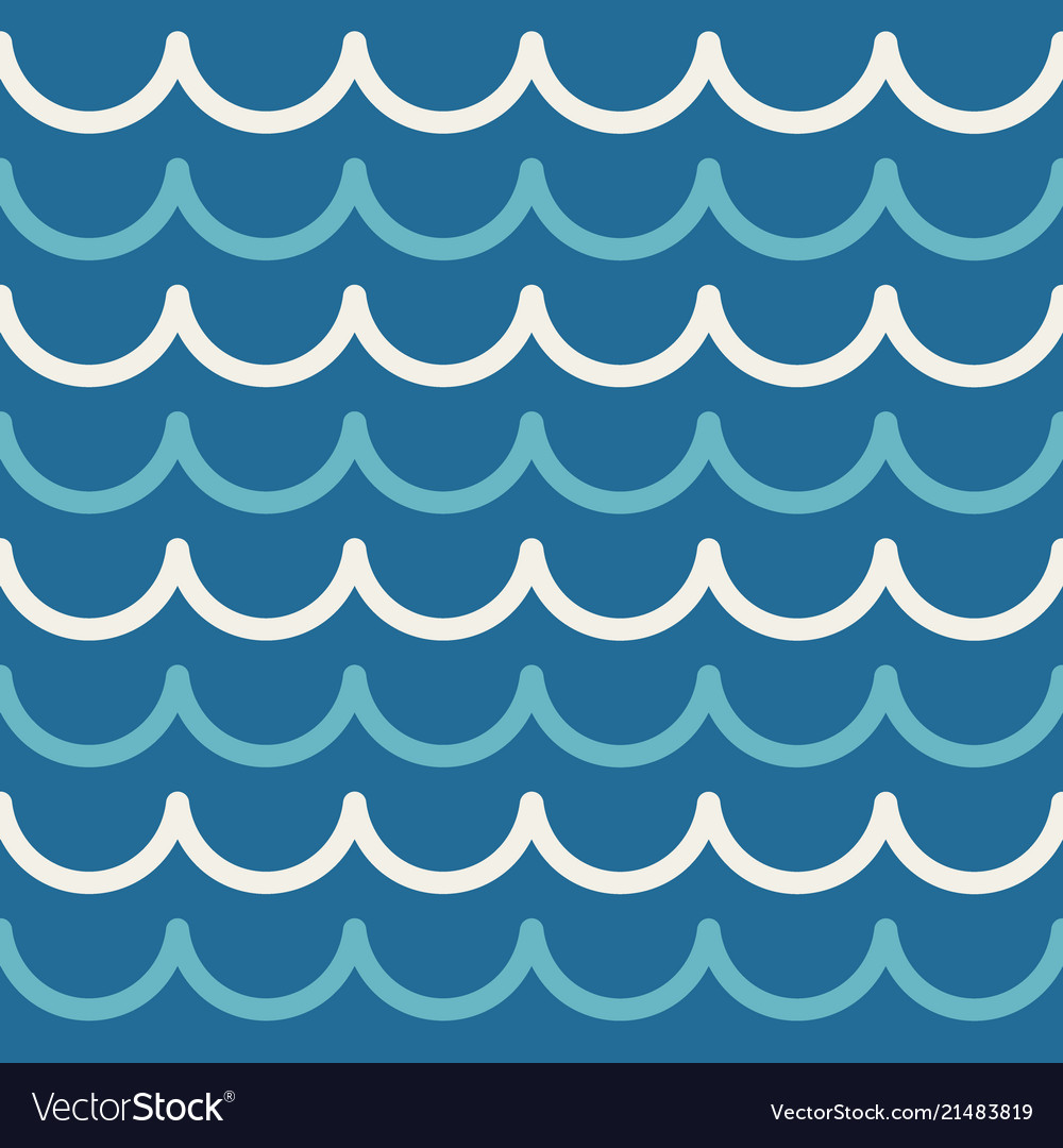 Wave Pattern Abstract Seamless Sea Background