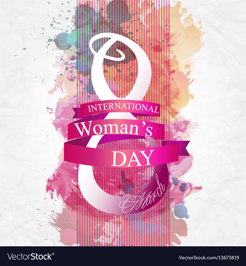 Women day background with frame flowers 8 march