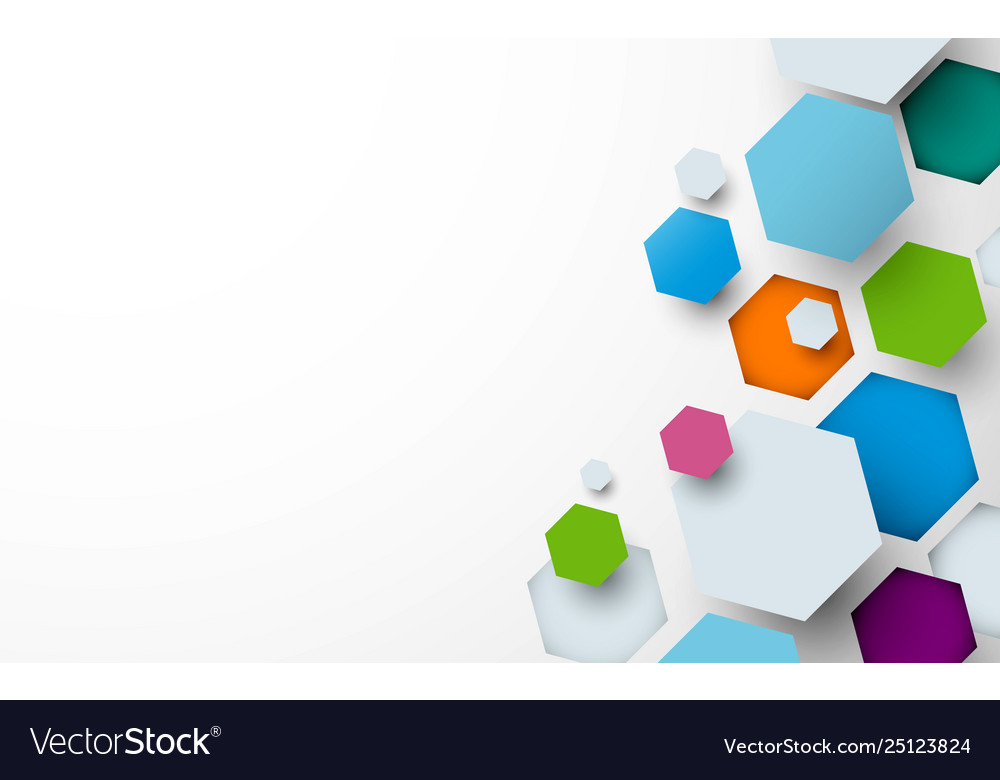 Abstract colorful hexagogns background