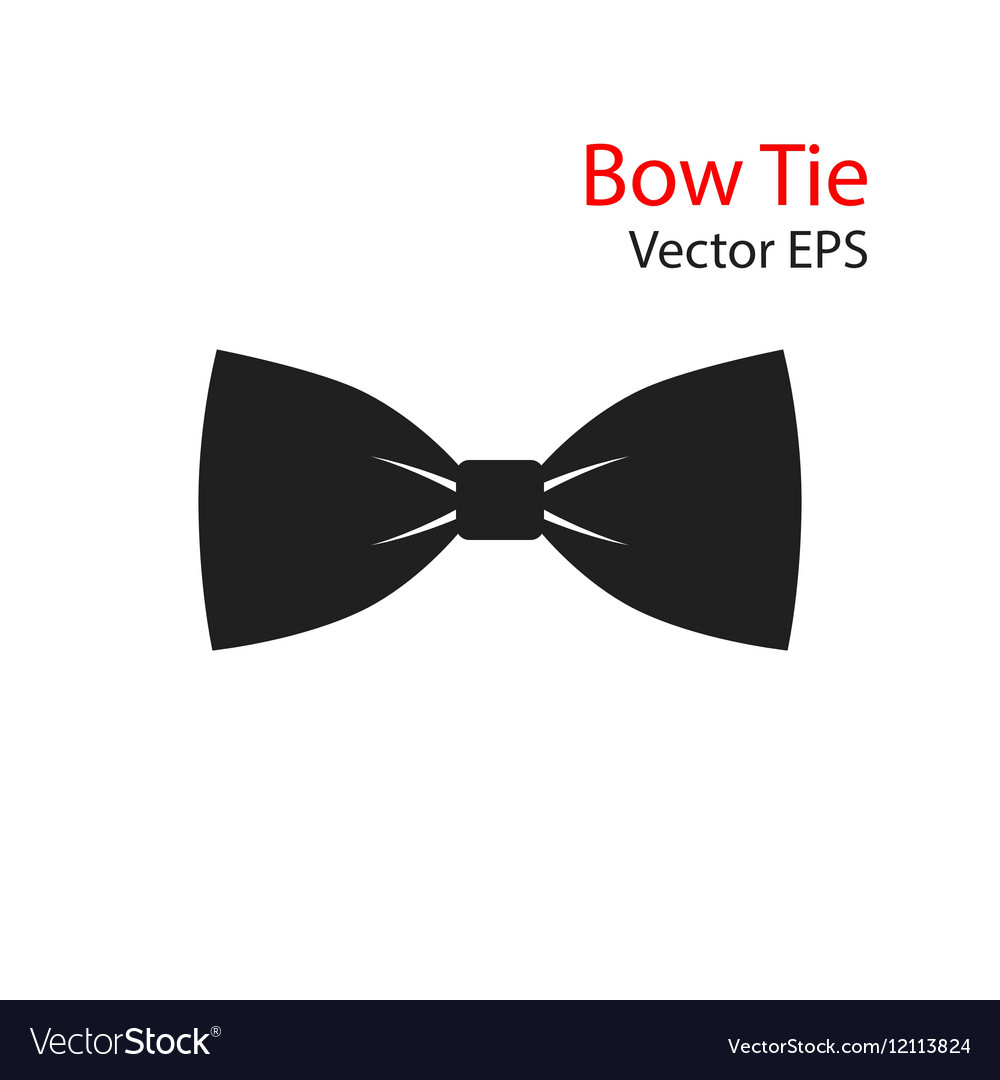 Bow Tie flat Icon isolated vector image