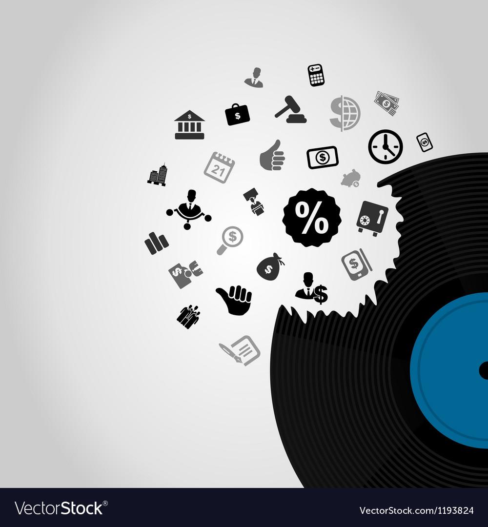 Business Vinyl vector image