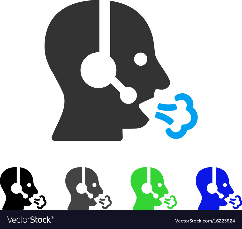 Operator speech flat icon vector image
