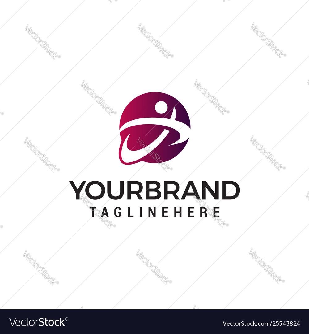 People letter x logo design concept template