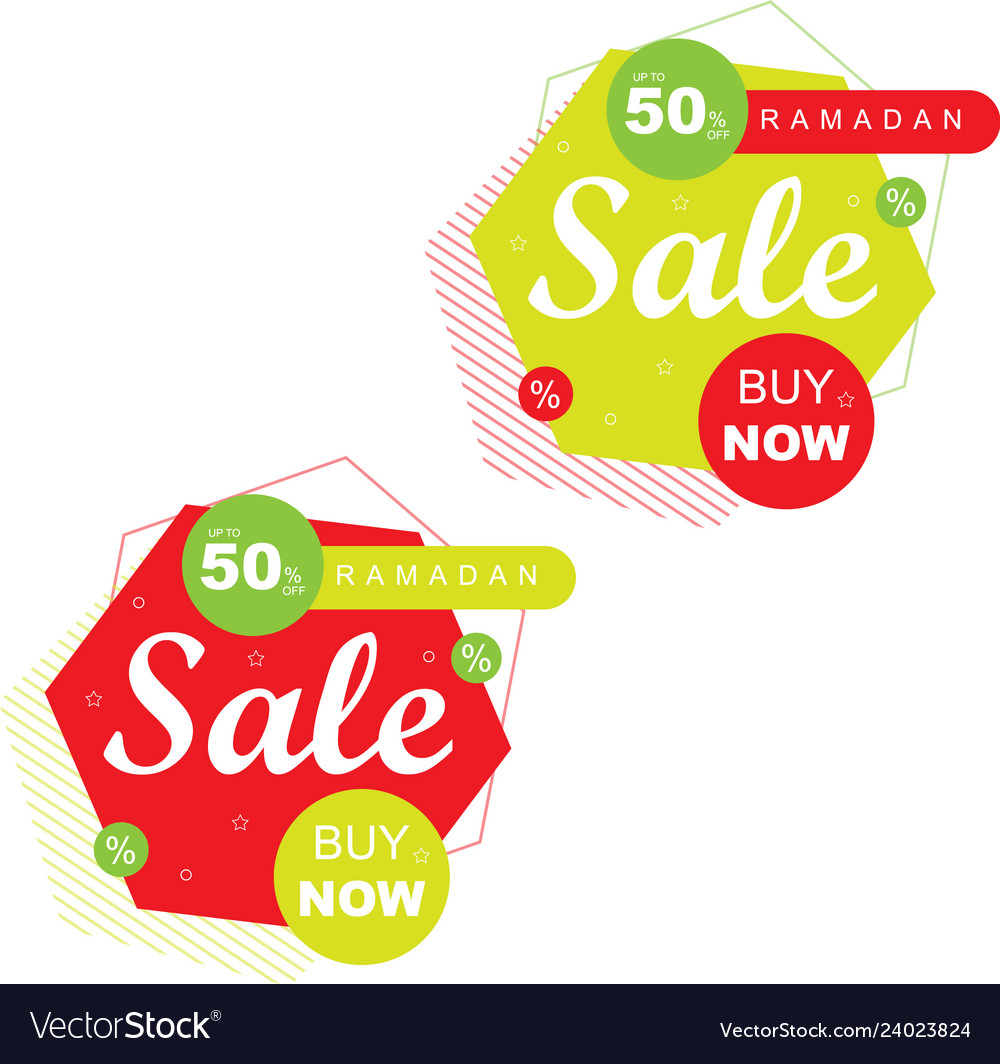 Ramadan sale bannerdiscount and best offer tag