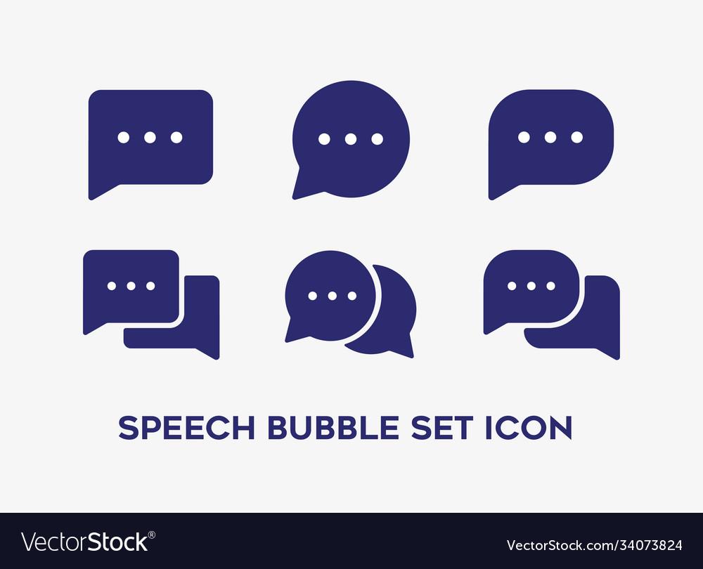 Set speech bubble with different shape