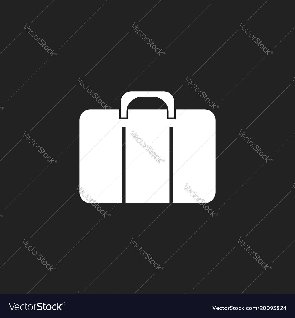Suitcase icon luggage in flat style
