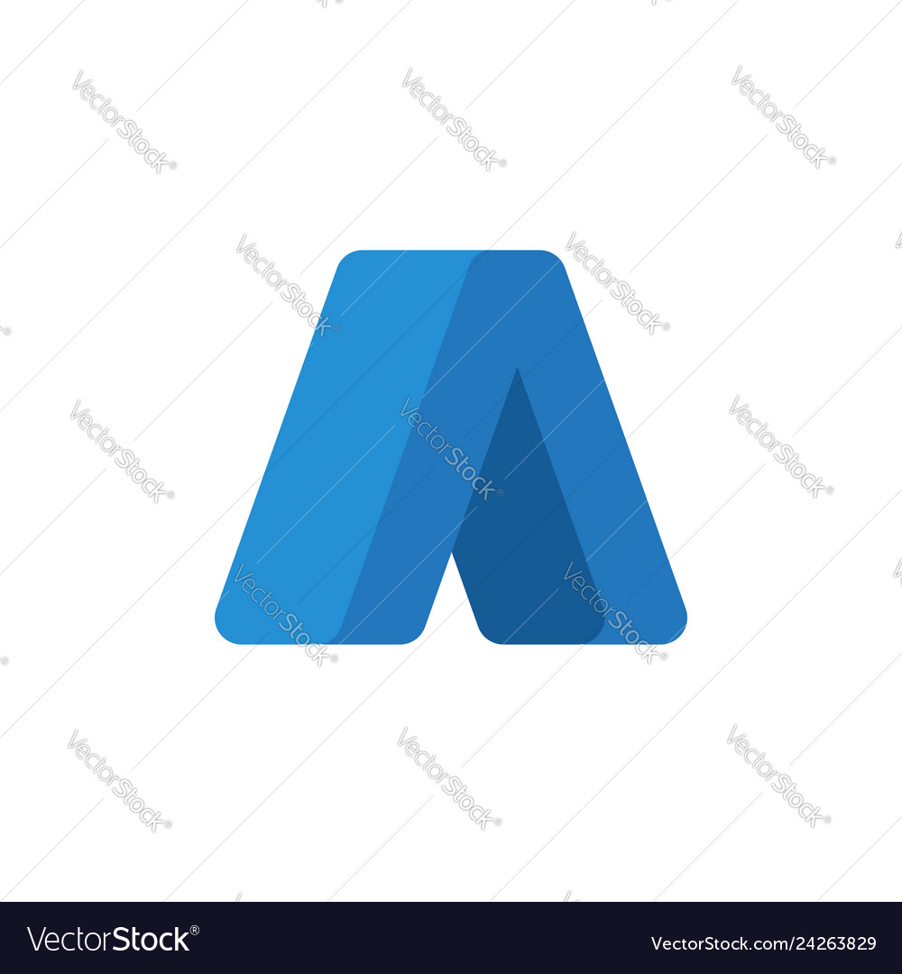 Abstract arrow up logo template flat style